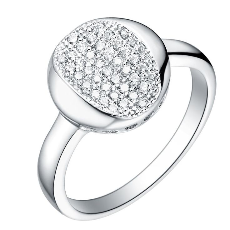 Micro inserts Diamante Plated 18K Ring