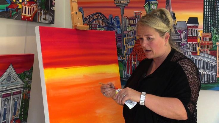 How to paint with Acrylics with New Zealand Artist Rachel Jemmett