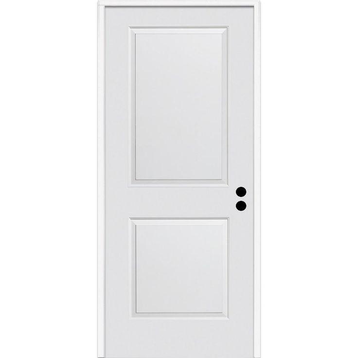 Mmi Door 32 In X 80 In Carrara Left Hand Primed Composite 20 Min Fire Rated House To Garage Single Prehung Interior Door Z0364404l The Home Depot Doors Interior Prehung Interior Doors Mmi Door