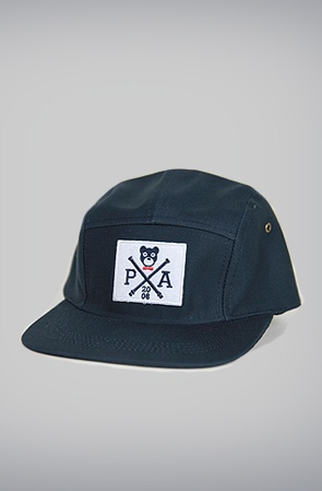 Cross Bear Five-Panel Hat: Navy by Profound Aesthetic