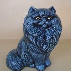 Persan bleu- nouveauté - en céramique peinte à la main