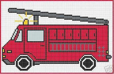 Crochet Patterns - FIRE ENGINE afghan pattern
