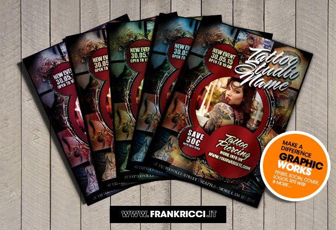 Se hai un negozio di #Tattoo e vuoi promuoverti con un #Flyer di qualità scaricati questo file http://frankricci.it/tattoo-studio-1/