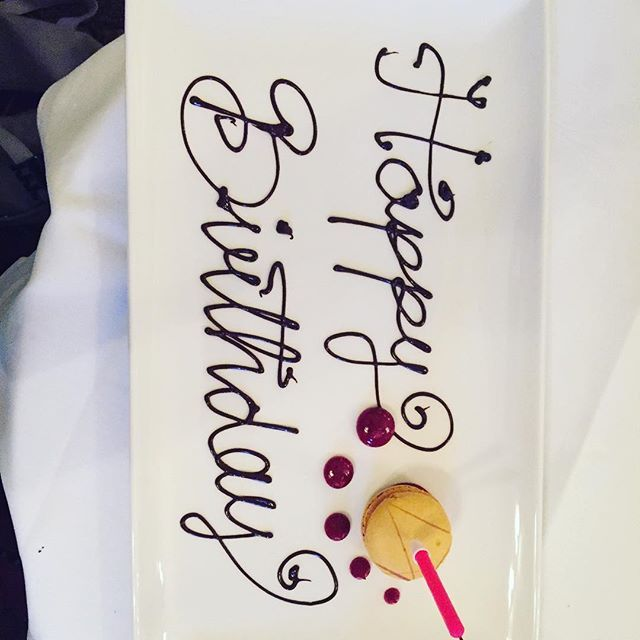 And they brought me a macaron with a candle in it!! #happybirthday #birthday #afternoontea #tylneyhall #tylneyhallhotel