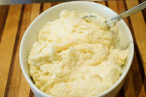 The best mashed potatos ever!  Pioneer woman is a genius :)