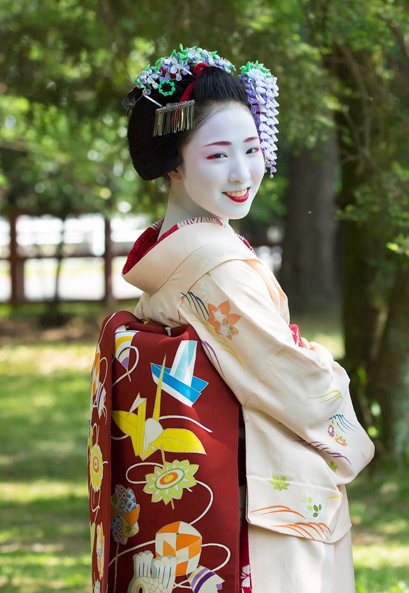 Japan Traditional Toys : Cute obi with traditional japanese toys geisha maiko