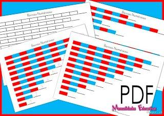 Manualidades Educativas: Barras Númericas pequeñas Montessori (con material imprimible)