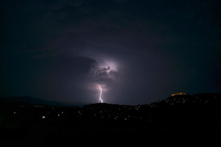Lightning ground strike at 23:37 on 6 August 2014
