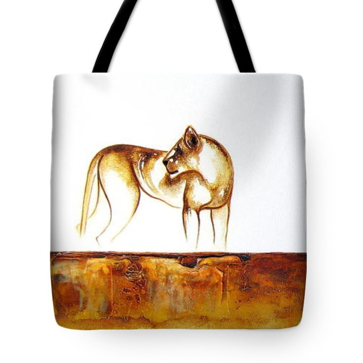 "Lioness Tote Bag 18"" x 18"" by Tracey Armstrong"
