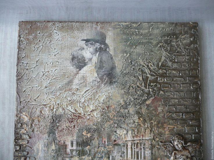 """Купить Панно """"Венеция винтаж"""" микс медиа - комбинированный, холст на подрамнике, панно на стену"""