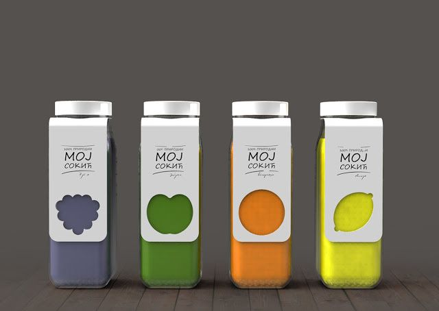 Moj Sokic (jus de fruit)   Design (concept) : Snežana Jeremić, Belgrade, Serbie (novembre 2015)