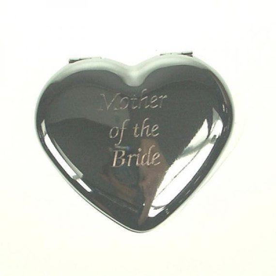 Mother of the Bride Heart Handbag Mirror by SouthendWeddingStore