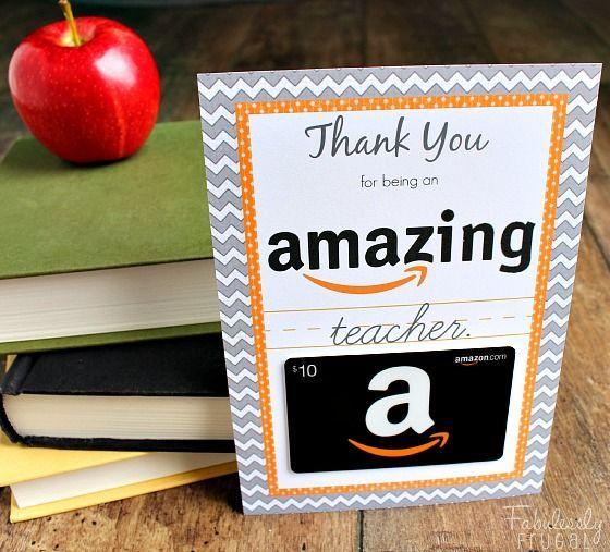 amazon gift card teacher gift printable