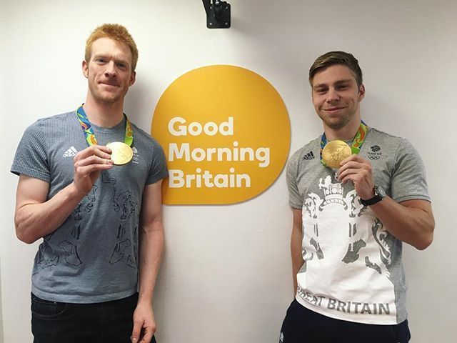Gold medal Olympian cyclists Ed Clancy and Philip Hindes joined us in the studio…