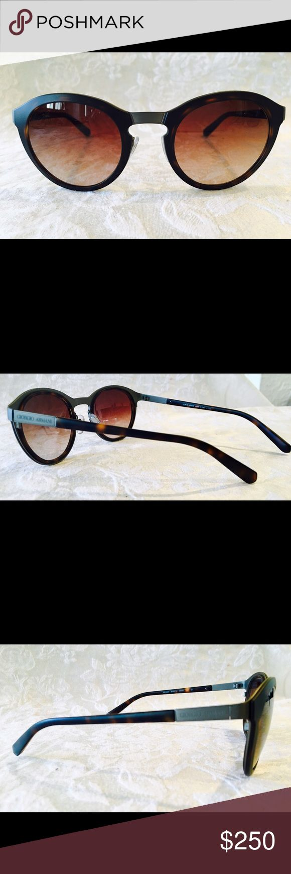 "Giorgio Armani women's sunglasses. NEW!!! Exquisite detail and design. Tortoiseshell frames and matte gunmetal hardware make up this modern ""bookish aviator"" style by Giorgio Armani. Lightweight and compact design. NEW!!! Giorgio Armani Accessories Sunglasses"