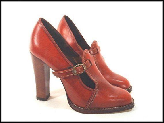 vegan high heels | 70's loafers vintage high heel VEGAN shoes by RockyMountainRetro