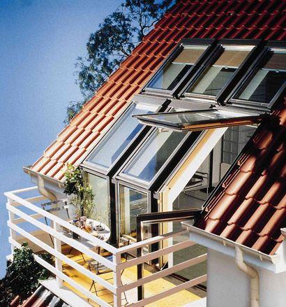 Der #Dachbalkon macht den Weg nach draußen frei.