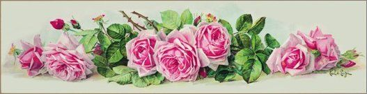 Yard Long Roses Print by Paul de Longpre Bella Rosa Designs