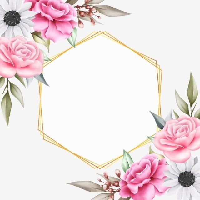 Floral Background Undangan Pernikahan Bunga Png - Info Kece