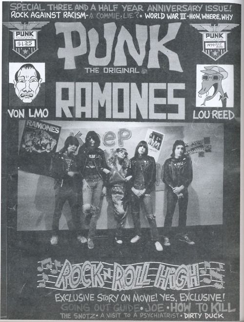 Ramones on the cover of Punk Magazine