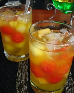 Ice cocktail containing fresh fruit is a favorite in our catering. We give a special price for you More info : 0813 2830 5569