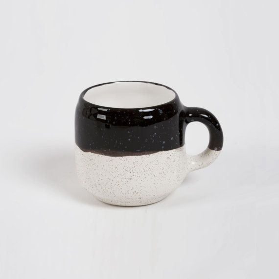 Choco Mug Black and Ecru