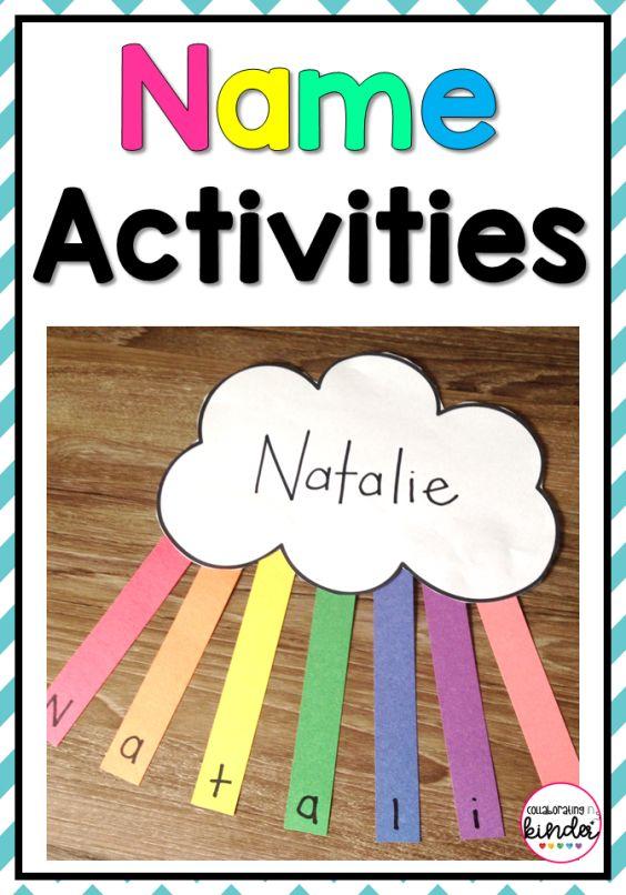 Easy Name Activities   Name activities, Preschool names