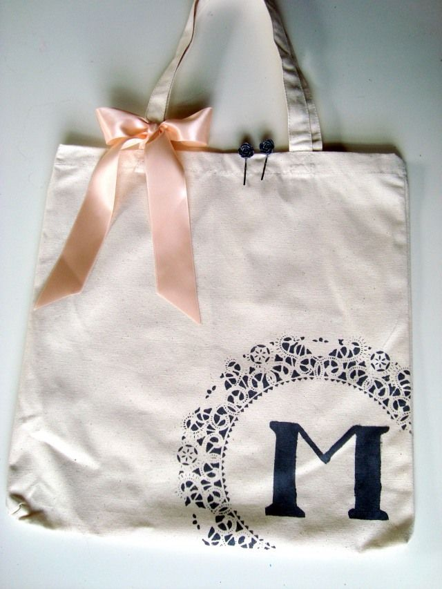 DIY Bridesmaid gift bags...these are amazing! So look out, my girls! :)