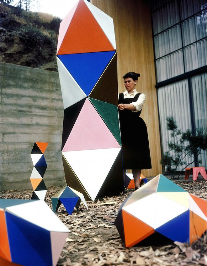 Ray Eames standing beside The Toy, a prefab building toy for kids manufactured by Tigrett Enterprises in 1951. All images © Eames Office, LLC. A central tenant of the...