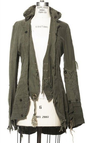 Recycled renaissance army jacket
