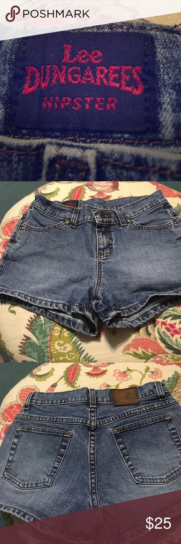 Vintage Lee dungaree hipster shorts Used size 3 Lee dungarees hipster shorts, not Levi's Levi's Shorts Jean Shorts