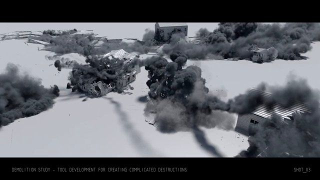 Here is some of the research & development work I've performed during past year. All done in Houdini. This work included development of wide range of tools for volume shaping and rendering, smoke simulations, liquid simulations and rigid body dynamics.  I also added several shots from my previous reel.  Breakdown:  Shot_01 - R&D - Tools for shaping and rendering clouds During this R&D work I've developed a number of SOP/CVEX modifiers and shaders for creating clouds in Houdini. Much ...