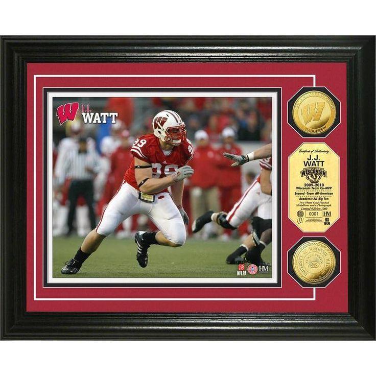"NFL JJ Watt ""Wisconsin"" Coin Photo Mint"