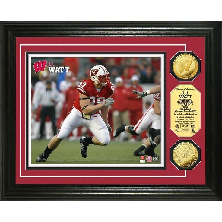 "NFL JJ Watt ""Wisconsin"" Coin Photo Mint"