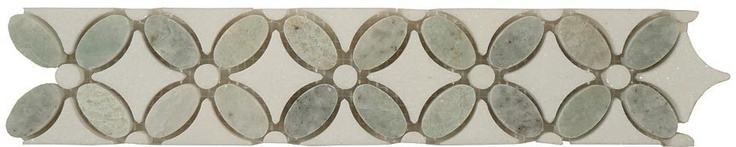 Ming Green Thassos White FS 740L Flower Series Natural Stone Mosaic Set of 5 | eBay
