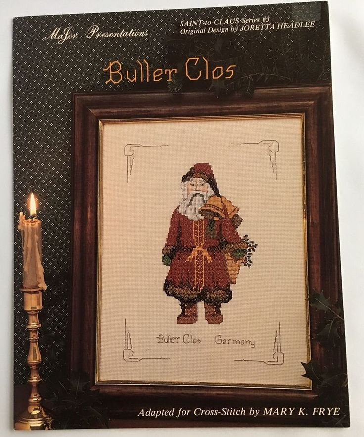 Buller Clos Of Germany Santa To Claus Cross Stitch Pattern Chart #3 Mary K Frye #MaJorPresentations #Picture