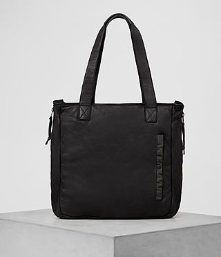 ALLSAINTS Shoto Leather Tote. #allsaints #bags #leather #hand bags #nylon #tote #