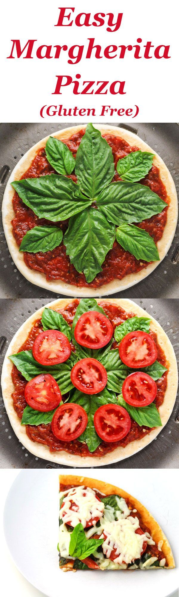 cool This Easy Margherita Pizza is Gluten Free and tastes so delicious! Only 5 ingred...