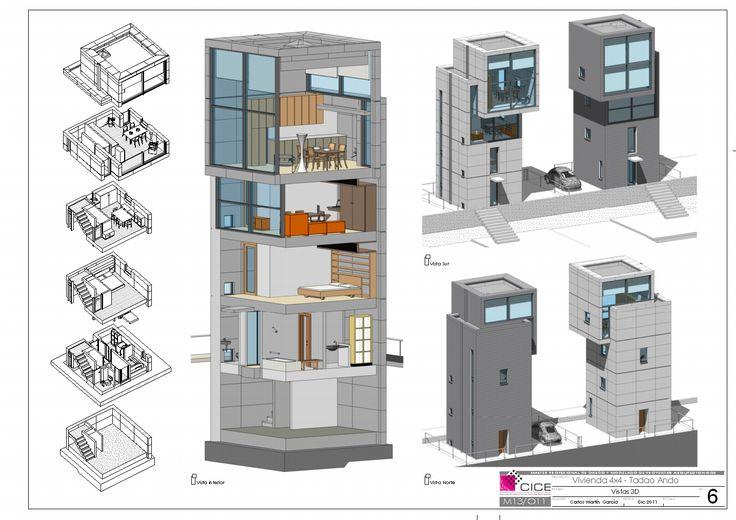 Carlos Martin Garcia. Delineante.: 4x4 Tadao Ando. Revit Arquitecture