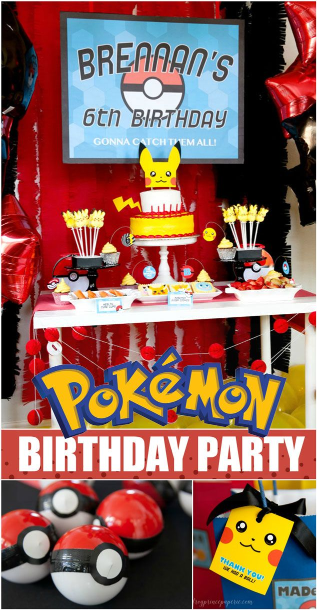 Pokemon birthday party by Frog Prince Paperie