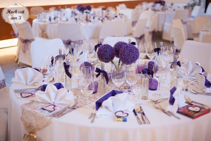 ... lila big wedding deko ideen tischdeko hochzeit lila 30er deko hochzeit