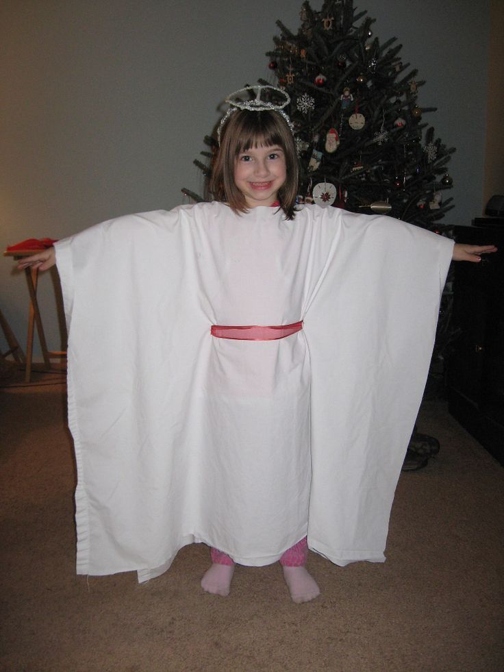 436 best nativity images on pinterest christmas ideas christmas angel costume from sheet with no sewing solutioingenieria Images
