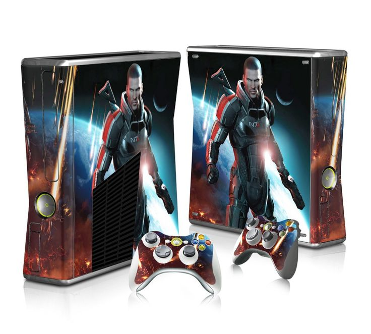 Mass Effect sticker skin for Xbox 360 slim