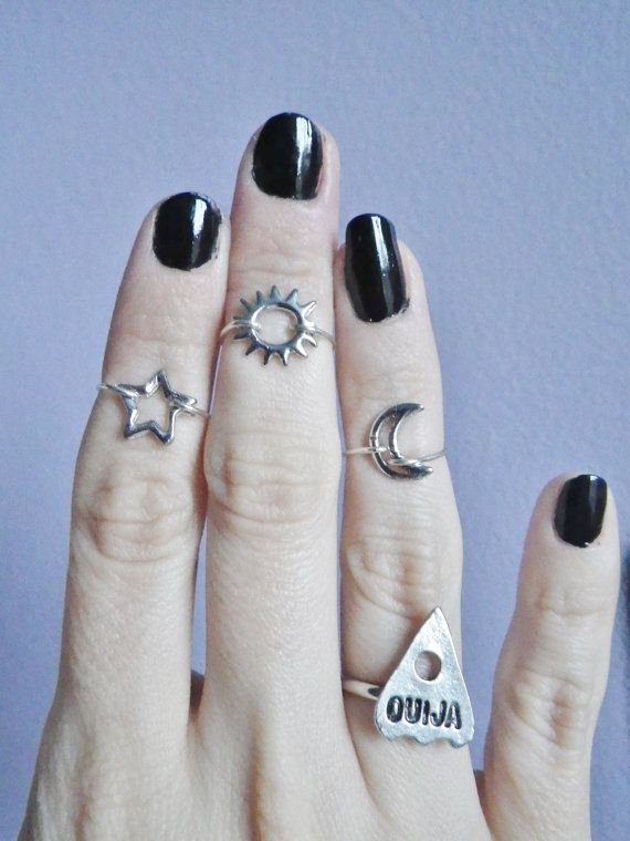 Moon Midi above the knuckle ring by lotusfairy on Etsy, $5.00 #rings #cute