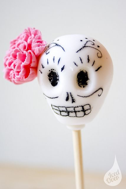 Day of The Red_Sugar Skull 1 by Iced Over Cakes, via Flickr