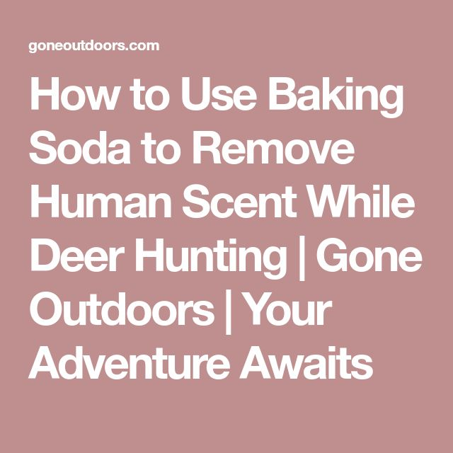 How to Use Baking Soda to Remove Human Scent While Deer Hunting | Gone Outdoors | Your Adventure Awaits