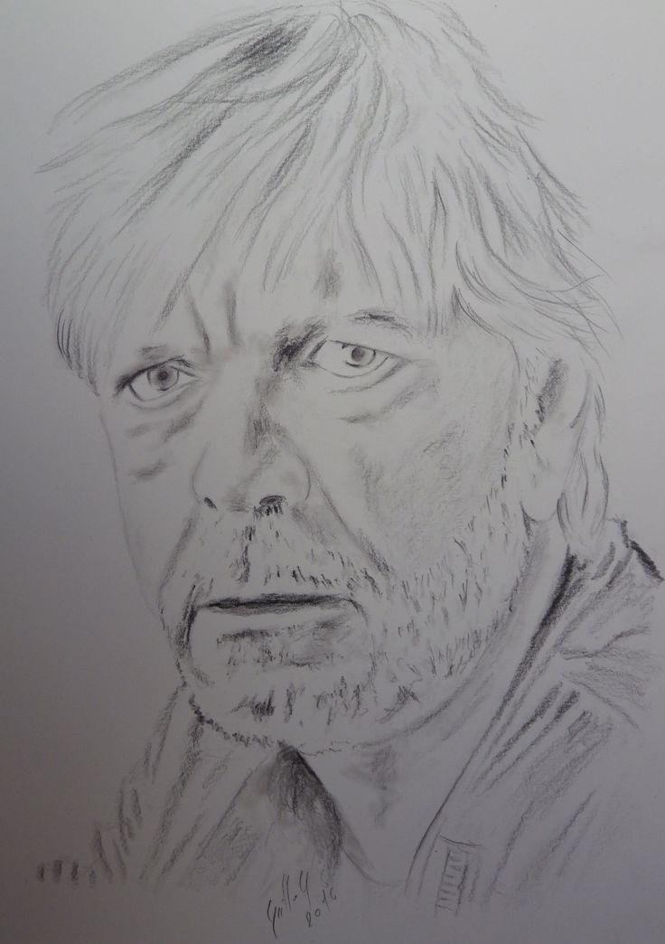 Renaud Séchan.Portrait au fusain