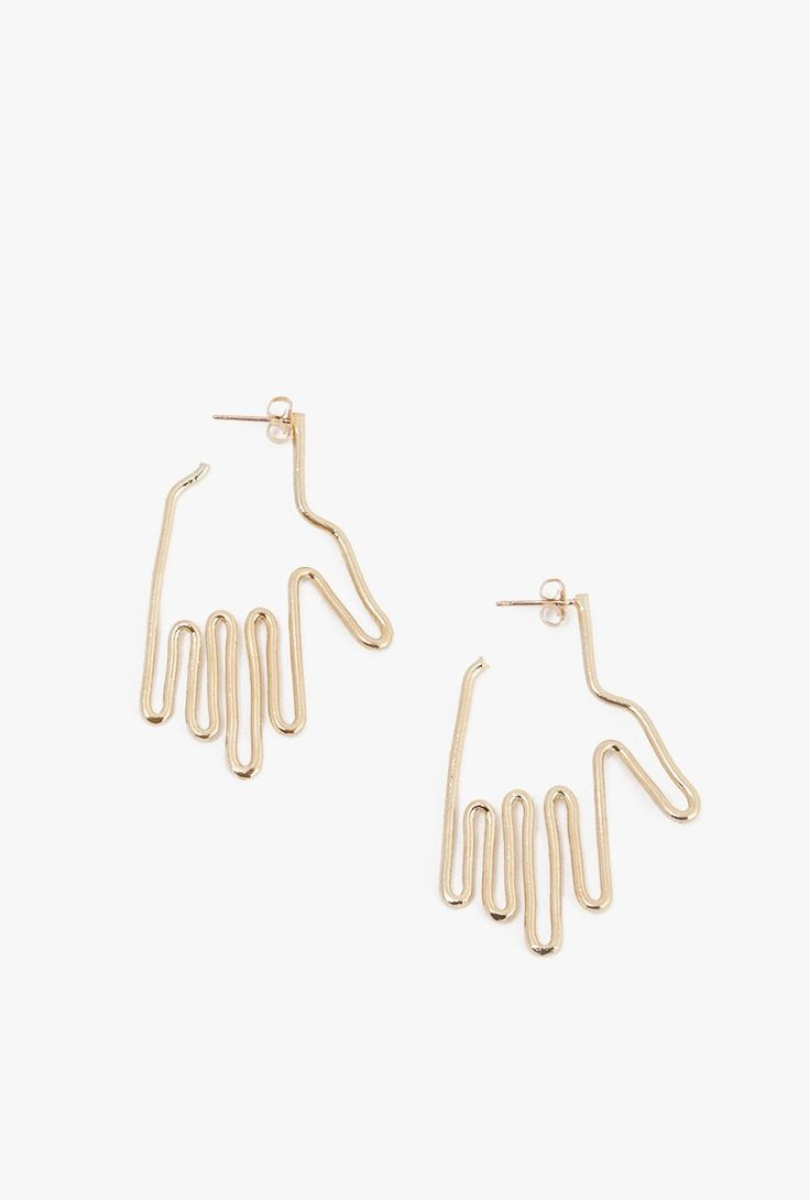 Exclusive Mini Hand Earrings by Young Frankk