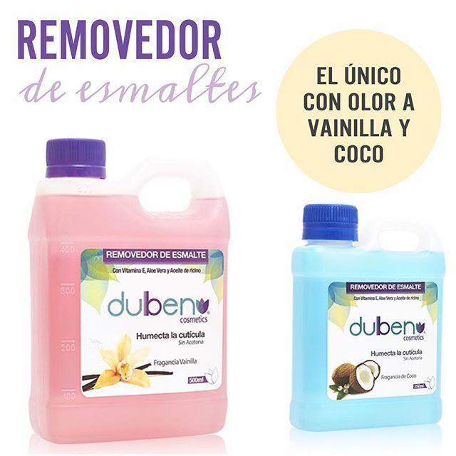Nuestros removedores de esmaltes son lo máximo. Contienen vitamina E, aloe vera y aceite de ricino 🌻 Haz tus pedidos al 3113971874 o ingresa a www.duben.com.co