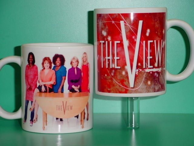The View Barbara Walters Whoopi Joy Sherri Elisabeth 2 Photo Collectible Mug 02